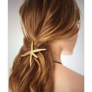 Accessories - GOLDEN STARFISH BARRETTE